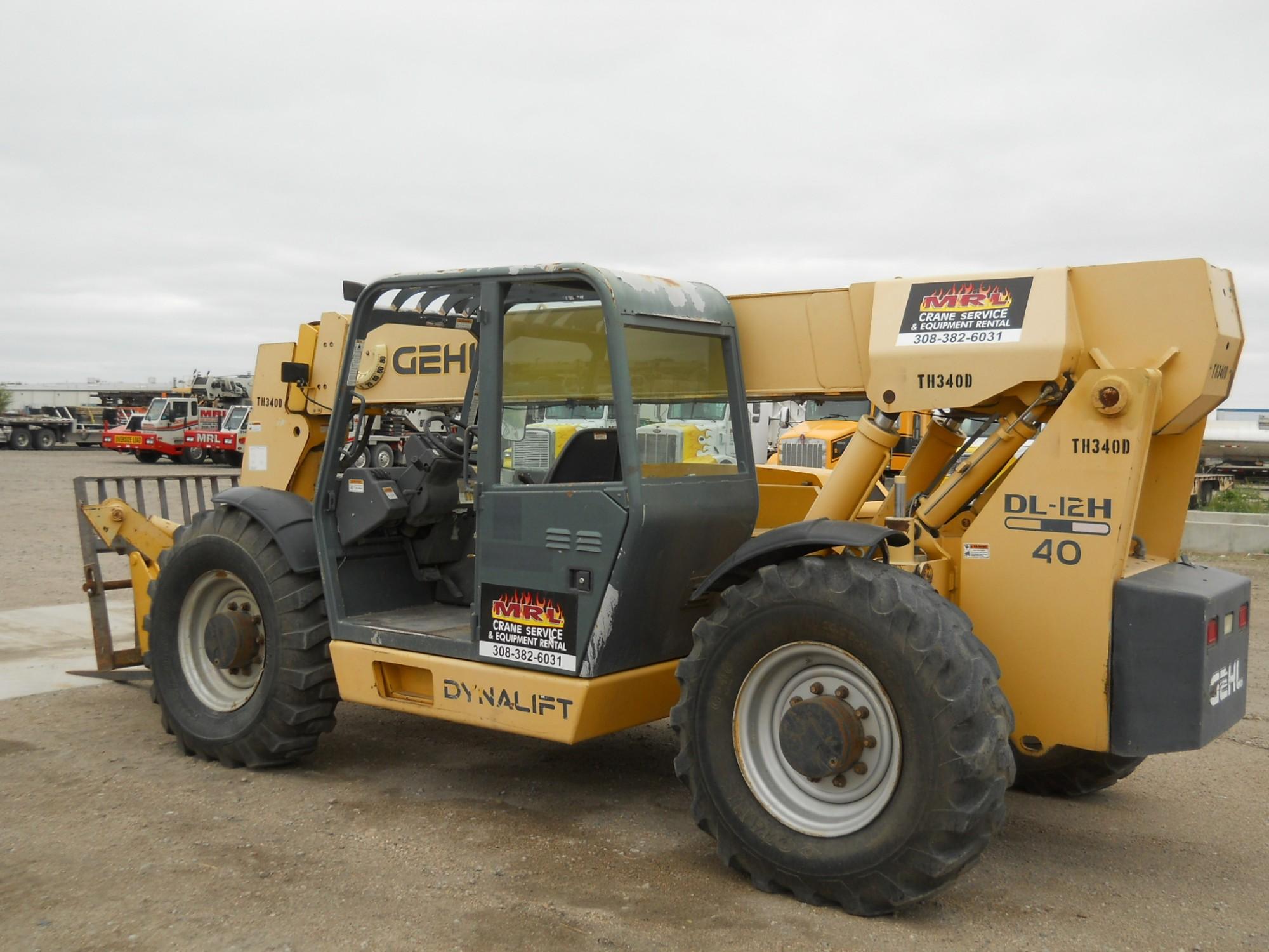 12K Telehandler 40' lift height - MRL Crane Service